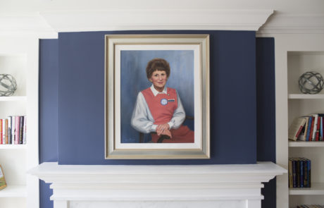 A painting of Evelyn D. Reinhart