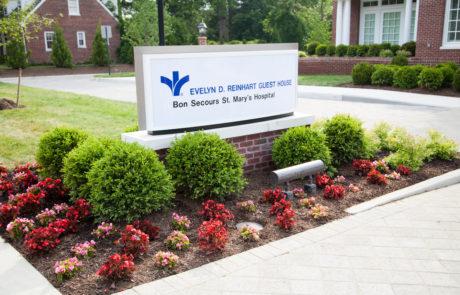 Evelyn D. Reinhart Guest House sign